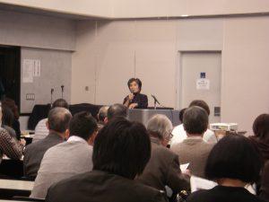 ▲松波秀子氏(清水建設(株)技術研究所)による講義の様子